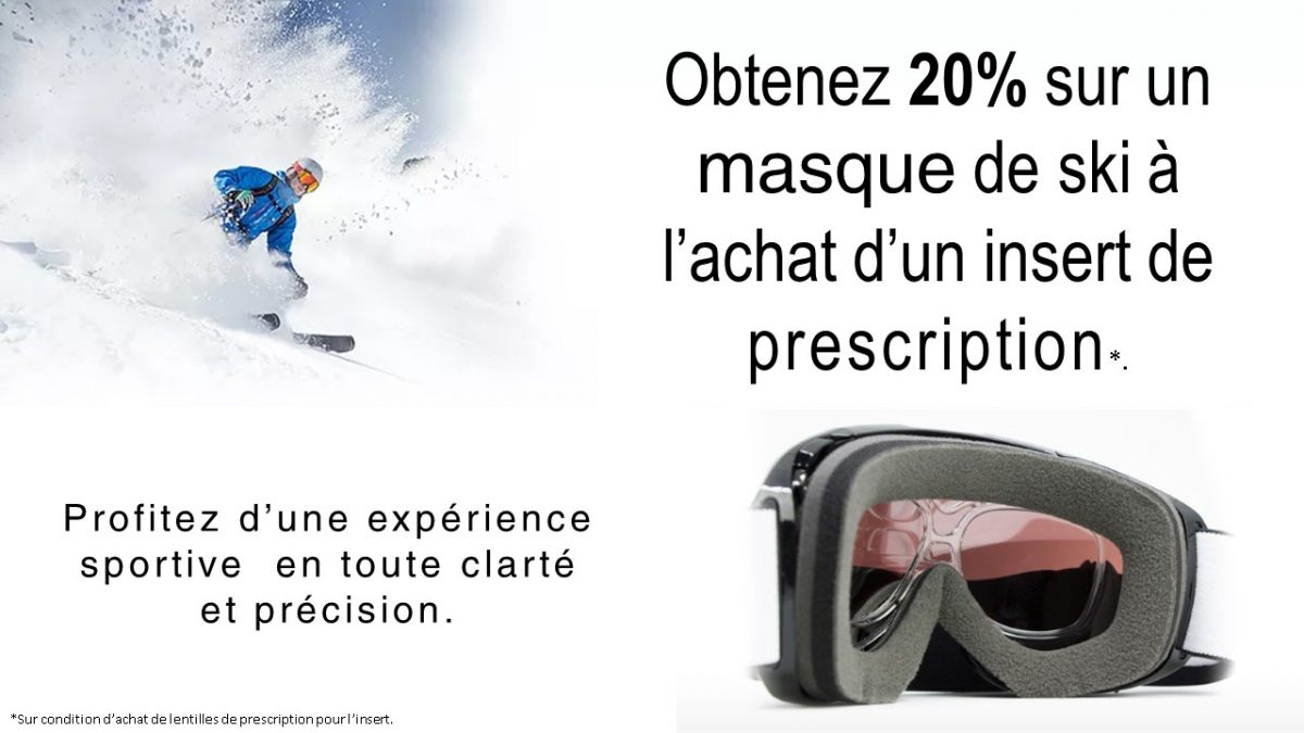 Masque de ski avec insert  RX